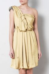 Lanvin Techno Satin Oneshoulder Dress - Lyst