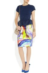 Marc By Marc Jacobs Luca Jersey Peplum Top in Blue - Lyst