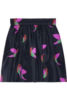 Marc By Marc Jacobs Night Bird Printed Silktaffeta Skirt - Lyst