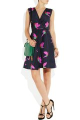 Marc By Marc Jacobs Night Bird Silktaffeta Dress in Blue (navy) - Lyst