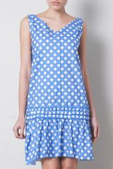 Marc Jacobs Diagonal Ginghamprint Dress in Blue - Lyst