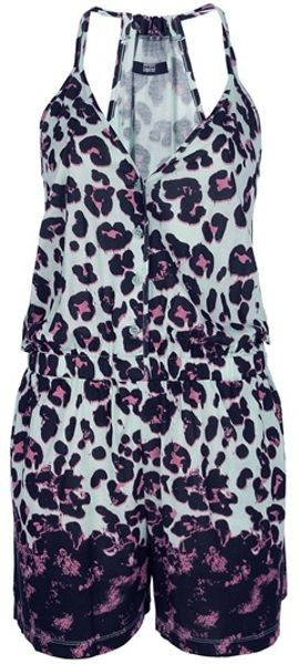 Markus Lupfer Leopard Print Playsuit in Animal (leopard) - Lyst