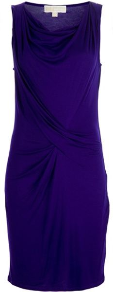 Michael Kors Draped Dress in Purple - Lyst