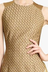 Missoni Metallic Patchwork Dress in Brown (gold) - Lyst