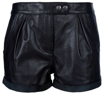 Muubaa Leather Shorts - Lyst