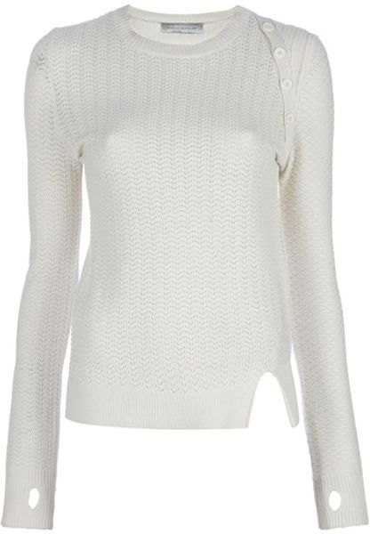 Proenza Schouler Knit Top in White - Lyst