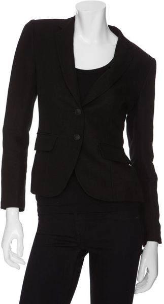 Rag & Bone Bailey Linen Jacket in Black - Lyst