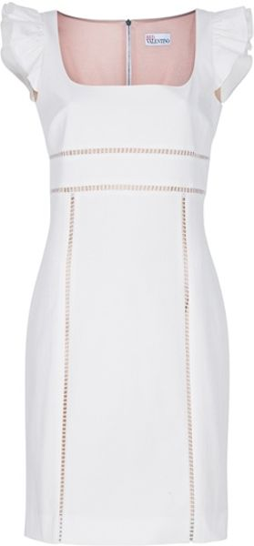 RED Valentino Cap Sleeve Dress - Lyst