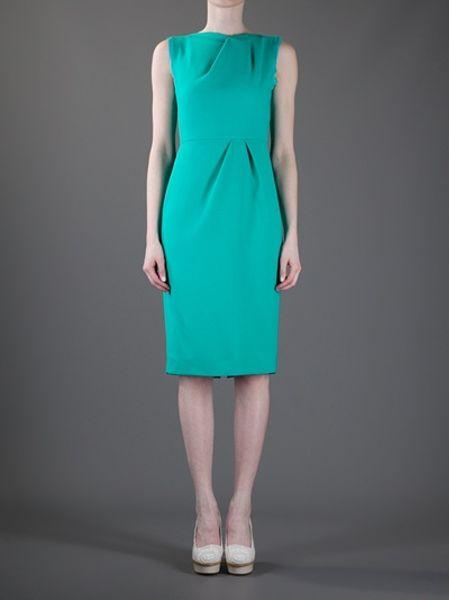 Roksanda Delphine Dress In Blue Green Lyst