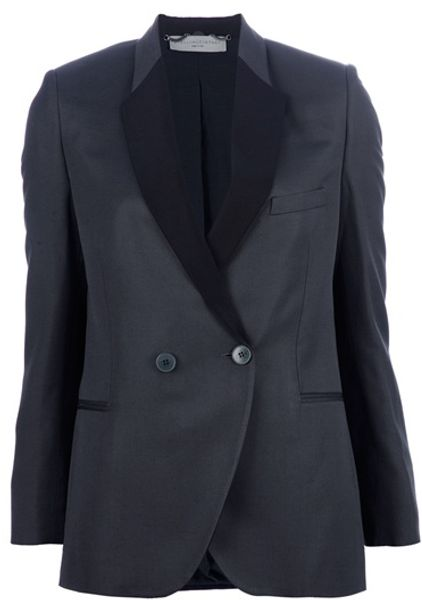 Stella Mccartney Blazer in Gray (green) - Lyst