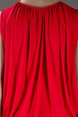 Stella Mccartney Draped Back Dress in Red - Lyst