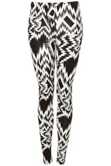 Topshop Aztec Print Leggings in Black (black/white) - Lyst