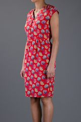 Valentino Vintage Floral Dress in Red (floral) - Lyst