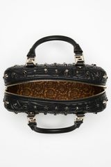 Versace Versace Vanitas Small Satchel in Black - Lyst