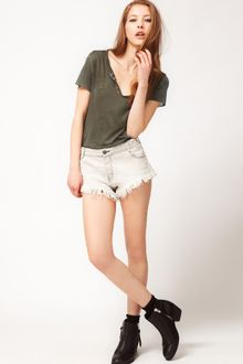 Super Short Cutoffs http://www.lyst.com/clothing/zadig-voltaire-relaxed-denim-cut-off-shorts-blanc/