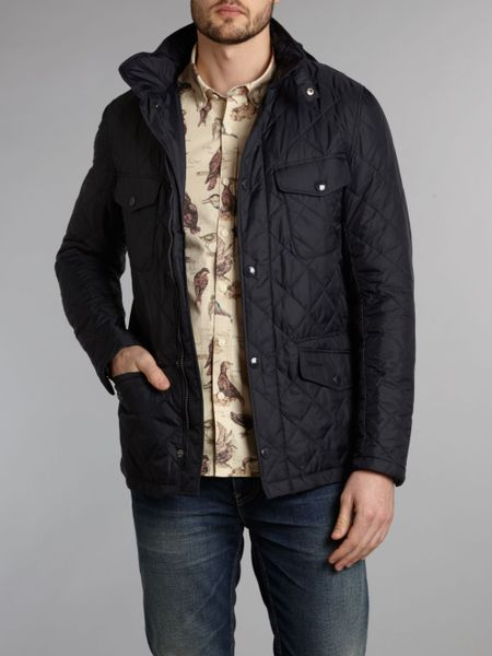 Barbour Harwick Lightweight Quilted Jacket In Blue For Men