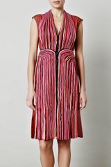 Bottega Veneta Pleated Panel Dress - Lyst