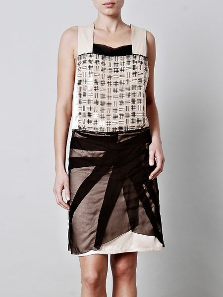 Bottega Veneta Tulle Embellished Dress in Black (beige) - Lyst