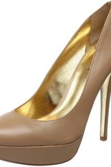 Charles By Charles David Pure Platform Pump in Beige (beige leather) - Lyst