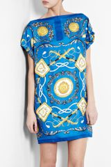 D&G Silk Scarf Print Shift Dress - Lyst