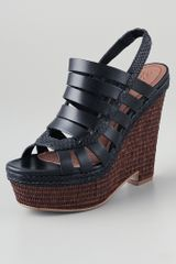 Elizabeth And James Silva Wedge Platform Sandals - Lyst