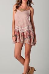 Haute Hippie Short Flapper Dress with Lace - Lyst