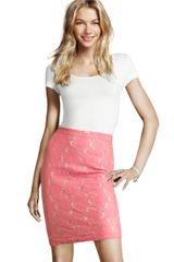 H&m Skirt in Pink (coral) - Lyst