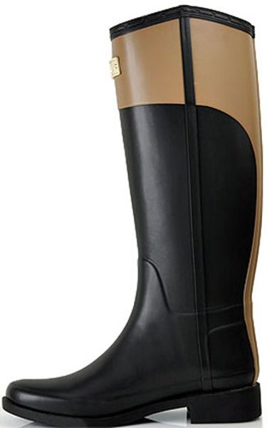 Hunter Cece Black Cafe Rubber Rain Boot In Black Lyst