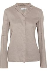 Jil Sander Cotton Organza Blazer in Brown (taupe) - Lyst