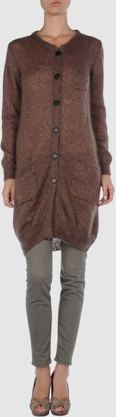 Knit Cardigan - Lyst
