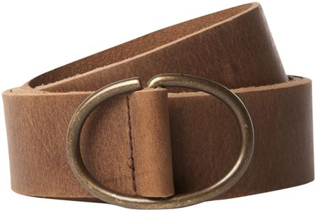 linea leather o ring belt in brown for vintage