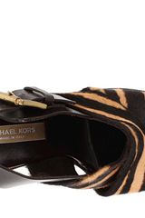 Michael Kors TigerStriped Wedges in Black (a) - Lyst