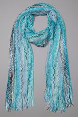 Missoni Scarf in Blue - Lyst