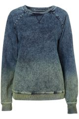 Moto Acid Dip Dye Denim Jumper - Lyst