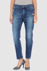 People Denim Trousers - Lyst