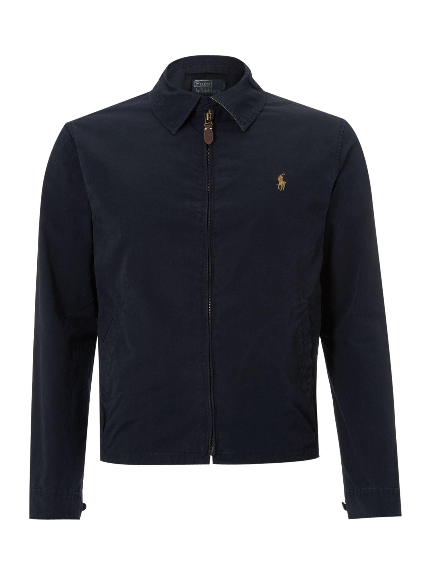 Polo ralph lauren Cotton Windbreaker Jacket in Blue for Men | Lyst