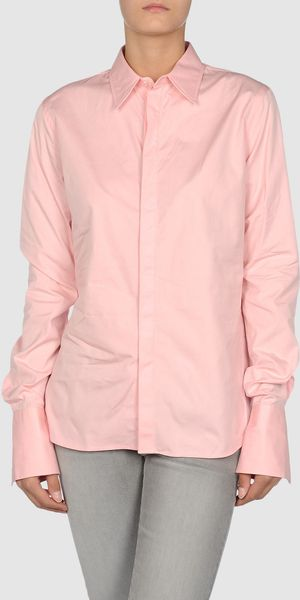 Ralph Lauren Long Sleeve Shirt in Pink - Lyst