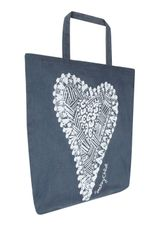 See By Chloé Blue Heart Motif Tote Bag in Gray (blue) - Lyst