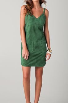 See By Chloé Suede Dress with Apron Back - Lyst
