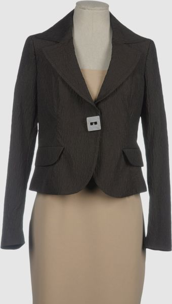 Sfizio Blazer in Brown - Lyst