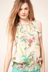 Ted Baker Top with Paradise Bird Print - Lyst