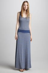 Three Dots Striped Maxi Dress - Lyst