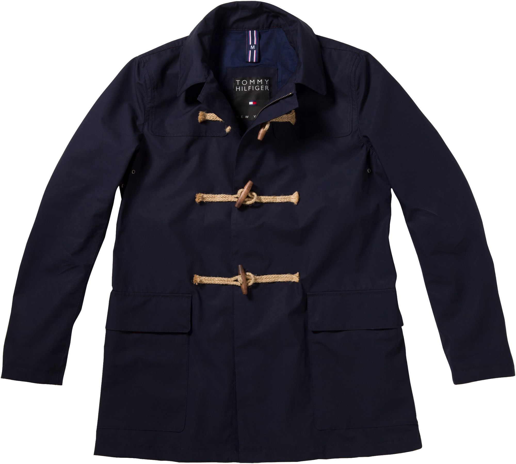 tommy hilfiger davis toggle duffle coat in blue for men navy lyst. Black Bedroom Furniture Sets. Home Design Ideas