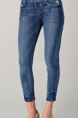 7 For All Mankind Gwenevere Cropped Jeans - Lyst
