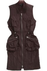 Alexander Wang Sleeveless Utility Dress in Brown (burgundy) - Lyst