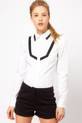 ASOS Collection Asos Shirt with Contrast Tipping