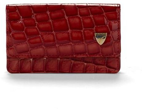 Aspinal Business Credit Card Case in Red - Lyst
