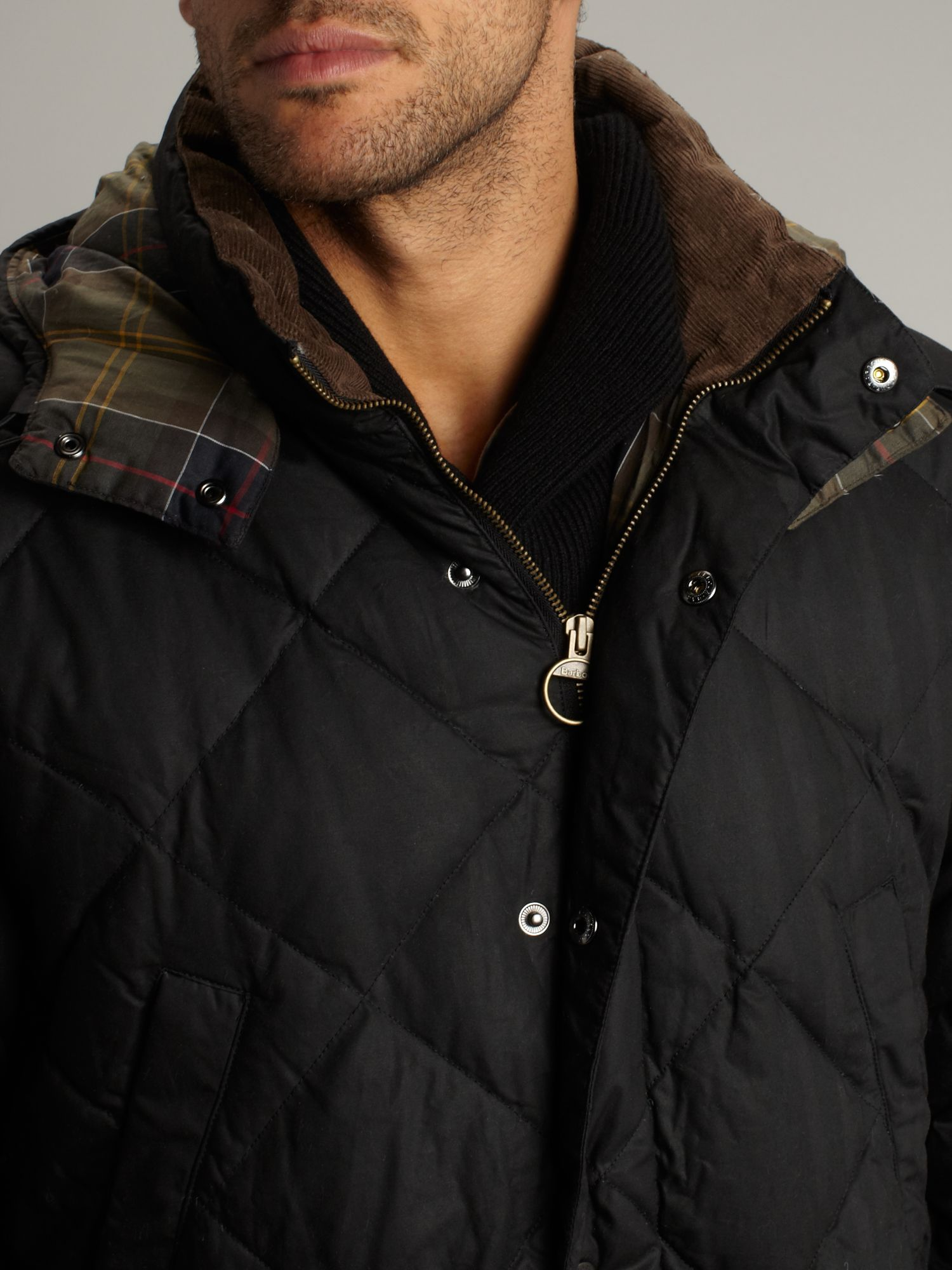 Lyst - Barbour Down Wax Quilted Jacket in Black for Men : barbour quilted waxed jacket - Adamdwight.com