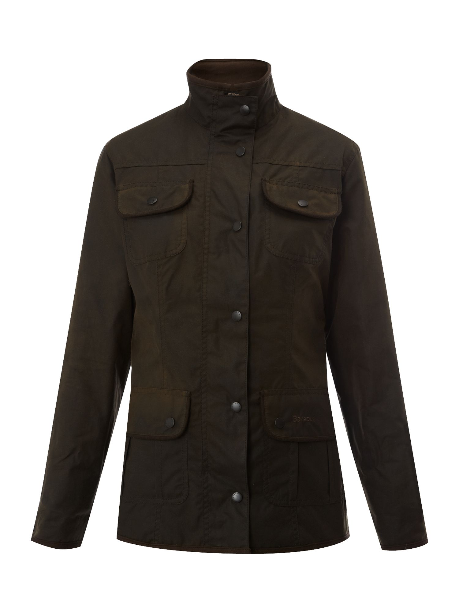 Utility Jacket Jackets And Nike: Barbour Ladies Wax Utility Jacket In Green (olive)
