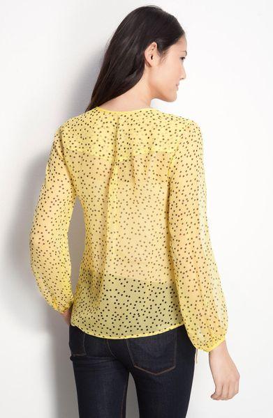 Yellow Polka Dot Blouse 99